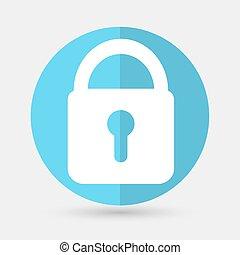 fechadura, ícone