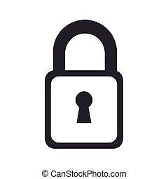 fechadura, segurança, fechado