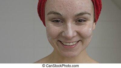 fecial, femme, masque