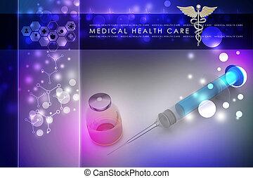 fecskendő, orvosság
