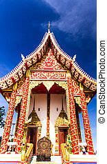 fede, tailandese, arte, tempio, tailandia