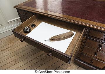 papier feder tinte brauner tinte splodged buero stockfoto fotografien und clipart. Black Bedroom Furniture Sets. Home Design Ideas