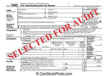 federaal, belastingsterugkeer, controle