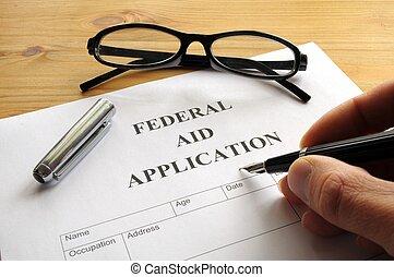 federal, ajuda, aplicação