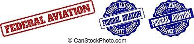 FEDERAL AVIATION Grunge Stamp Seals