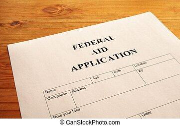 federal, ayuda, aplicación
