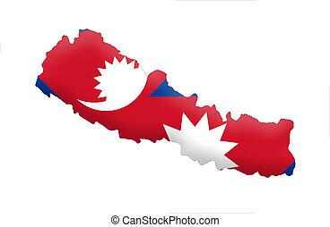 federal, democrático, república, nepal