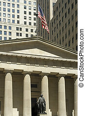 Federal Hall on Wall street, Manhattan, New York City, USA