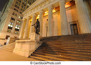 Federal Hall, the first Capitol of the United States of...