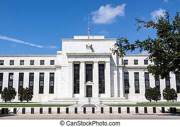federal, reserva, banco, washington, d