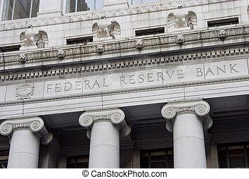 federal, reserva, fachada, 1