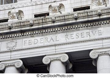 federal, reserva, fachada, 2