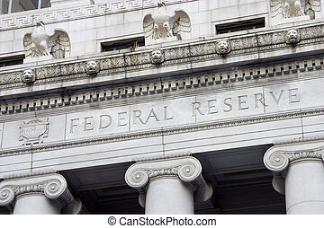 The facade of the Federal Reserve Bank.