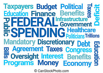 Federal Spending Word Cloud on White Background