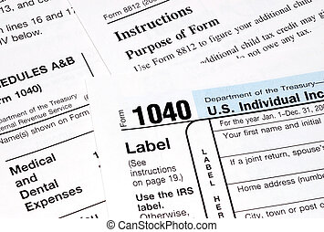 federal tax forms on a table