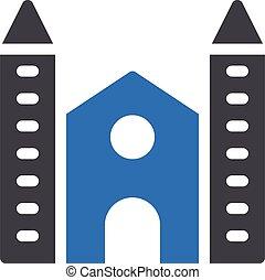 federal vector glyph colour  icon