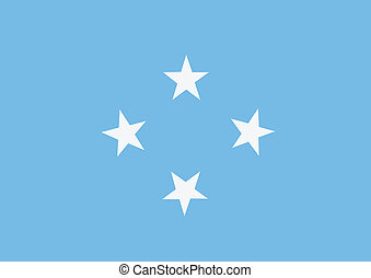Federated states of micronesia political map with capital eps