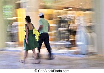 fedett sétány, bevásárlás