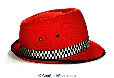 Fedora hat isolated on white background