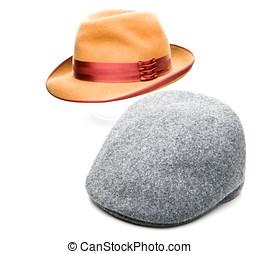Fedora Hat Tweed Cap