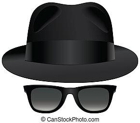 Fedora sunglasses - A classic set of black fedora and ...