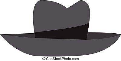Fedora vector or color illustration - An illustration of a...