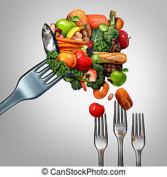 Feed The Poor - Feed the poor concept as a giant fork with ...