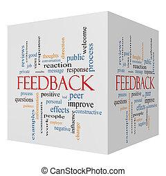 Feedback 3D cube Word Cloud Concept