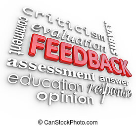Feedback 3D Word Collage Evaluation Comment Review - A 3d...