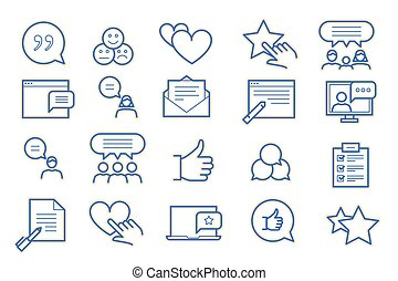 Feedback and Testimonials Icon Set