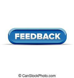 Feedback button blue vector