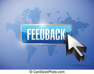 feedback button illustration design