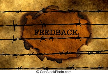 Feedback concept against barbwire