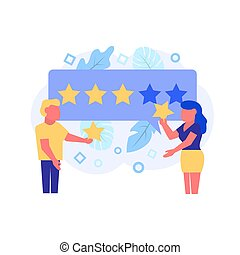 Feedback concept Vector illustration in flat style