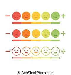 Feedback emoticon emoji smile icon vector illustration