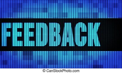 Feedback Front Text Scrolling LED Wall Pannel Display Sign...