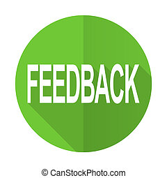 feedback green flat icon