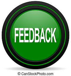 feedback green icon