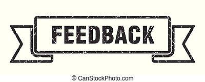 feedback grunge ribbon. feedback sign. feedback banner