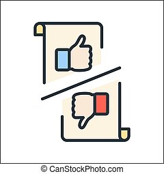 feedback icon color illustration design