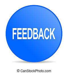 feedback internet blue icon