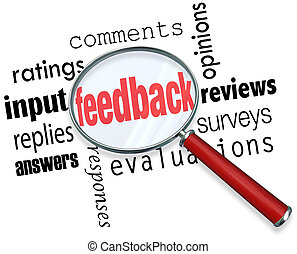 Feedback Magnifying Glass Input Comments Ratings Reviews -...