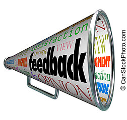 Feedback Megaphone Bullhorn Opinion Sharing - A megaphone or...