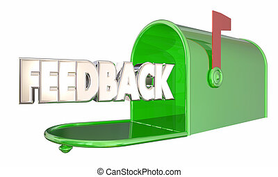 Feedback Message Input Comments Mailbox Word 3d Illustration