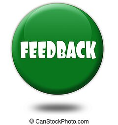 FEEDBACK on green 3d button.