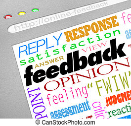 Feedback Online Survey Answers Opinions - A website screen...