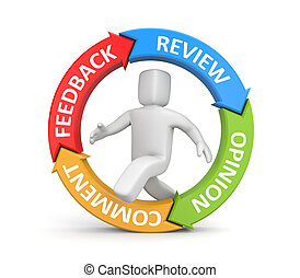 Feedback, reviews, opinion, comments metaphor. Isolated on...