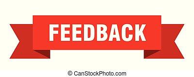 feedback ribbon. feedback isolated sign. feedback banner