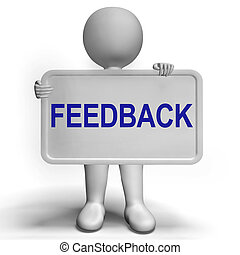 Feedback Sign Shows Opinion Evaluation And Surveys -...