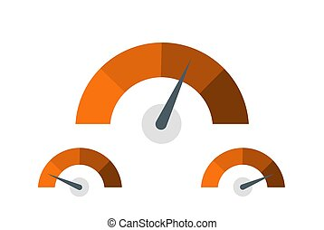 Feedback Speedometer, Customer Satisfaction Meter, Product Rating Icons - Vector Illustration
